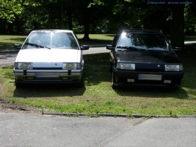 bildlicher Vergleich Citroën BX GTi & Citroën BX TZI Break #01