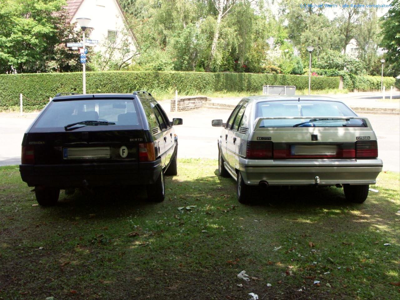 bildlicher Vergleich Citroën BX GTi & Citroën BX TZI Break #06