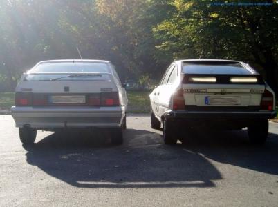 bildlicher Vergleich 1991er Citroën BX GTi & 1984er Citroën CX 25 GTi Turbo #09
