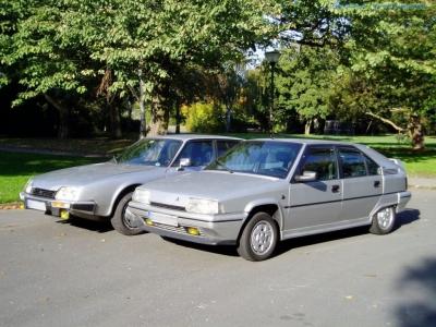bildlicher Vergleich 1991er Citroën BX GTi & 1984er Citroën CX 25 GTi Turbo #10