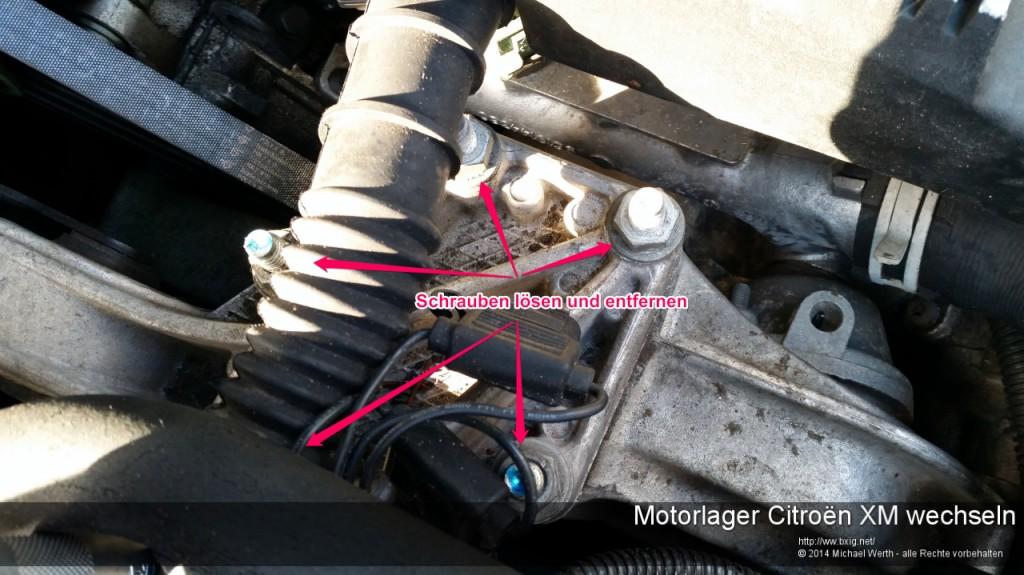 Motorlager_oben_und_unten_Citroen_XM_wechseln-3