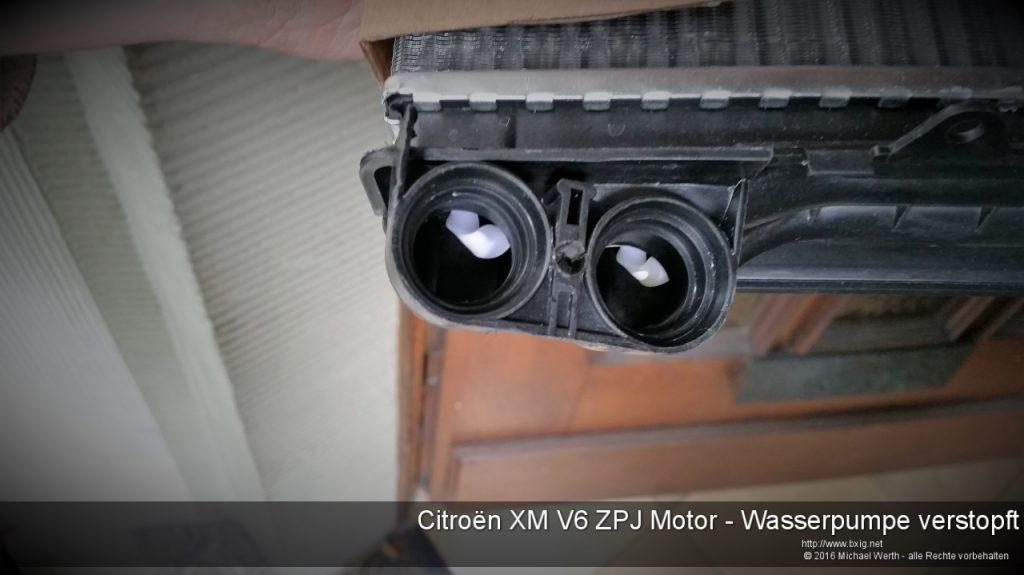 Citroen XM V6 ZPJ Motor - Wasserpumpe verstopft-4
