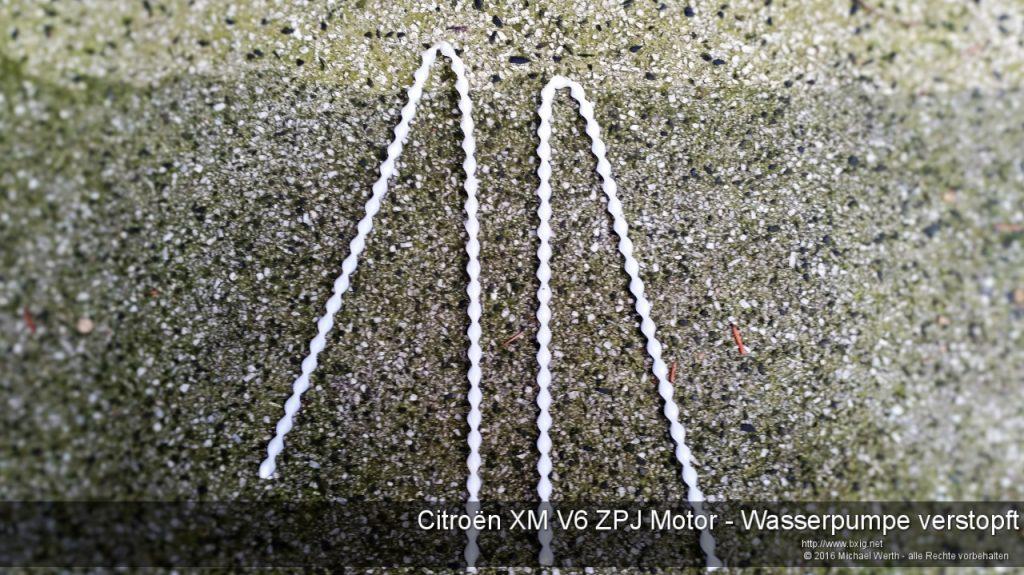 Citroen XM V6 ZPJ Motor - Wasserpumpe verstopft-5