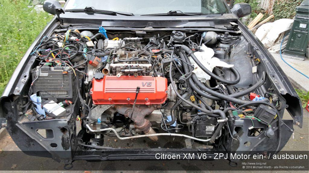 Citroen XM V6 - ZPJ Motor ein-ausbauen-2